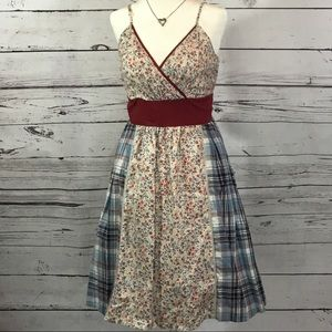 Dresses & Skirts - Plaid and Flower Sundress with matching Flip Flops